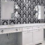 Black and White Pattern Bathroom