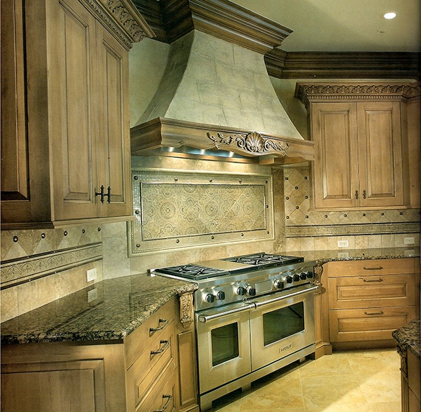 Bordo Antico Etched Stone Kitchen