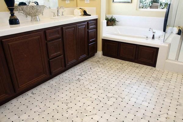 Calacatta Octagon Bathroom Floor