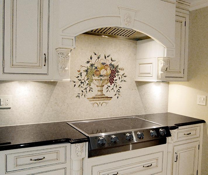 Cucina Agate Fruit Mosaic Mural