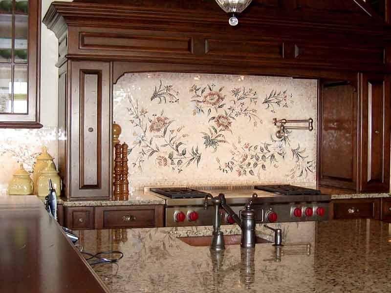 Cucina Floral Mosaic Mural