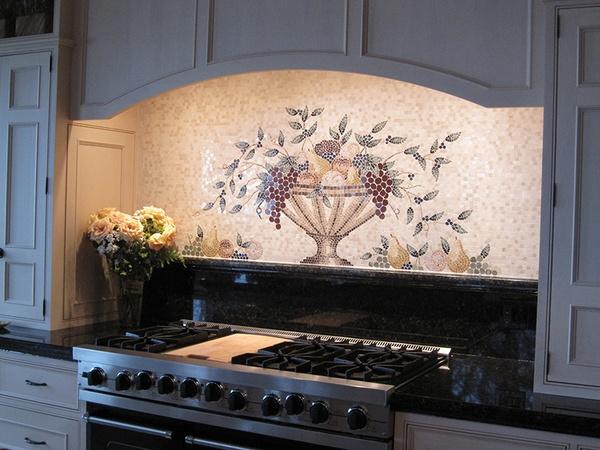 Cucina Fruit Basket Mosaic Mural
