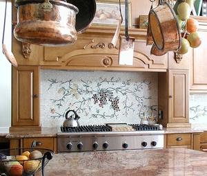 Cucina Grape Mosaic Mural