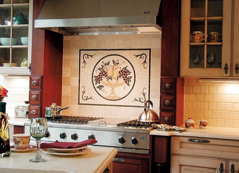 Cucina Procne Fruit Mosaic Mural