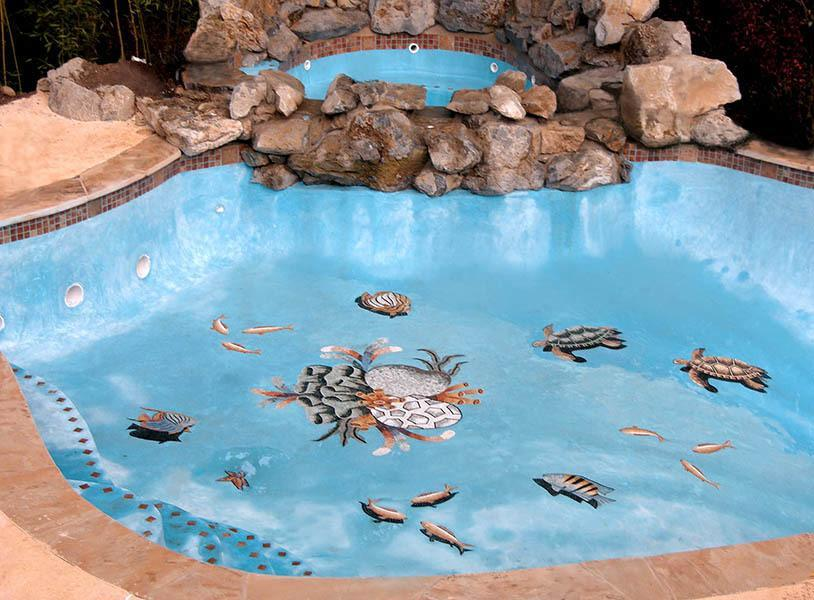 Custom Swimming Pool Mosaic Designs and Medallions | Artsaics