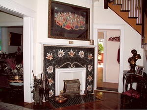 Floral Mosaic Fireplace