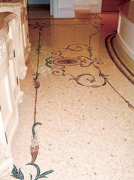 Louvre Eathane Ornamental Floor Mosaic