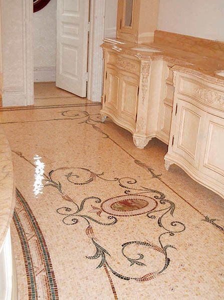 Louvre Eathane Scroll Mosaic