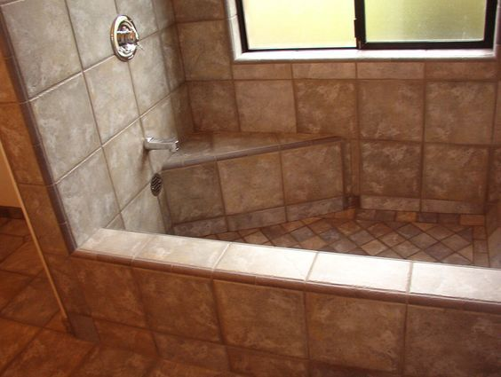 Roman Style Tiled Shower