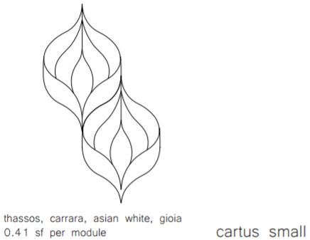 Stone Mosaics Effusion Cartus Small Specs