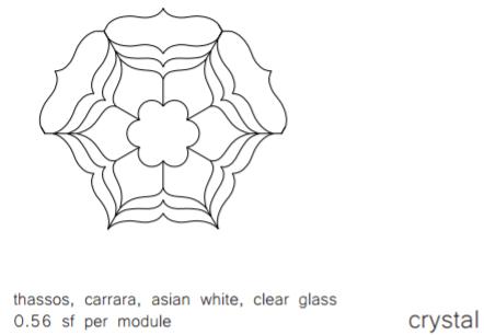 Stone Mosaics Effusion Crystal Specs