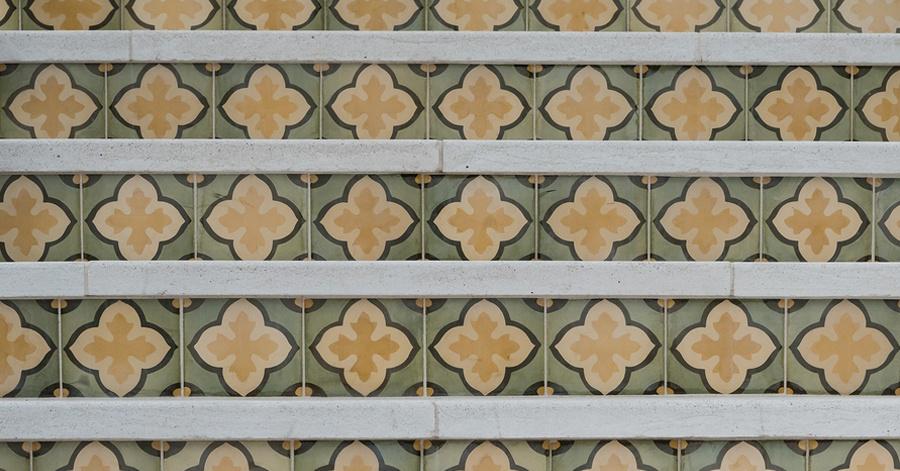 Stair Riser Tile Ideas