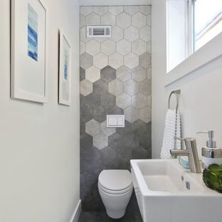 6 hexagonal tile ideas to inspire your renovation - Powder room tile ideas ...